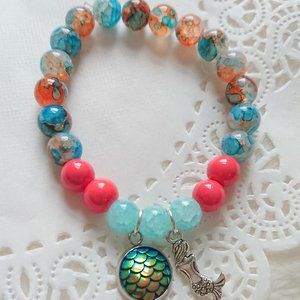 Other - SET of TWO, MERMAID stone beads bracelets